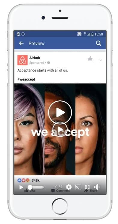 facebook single video ad