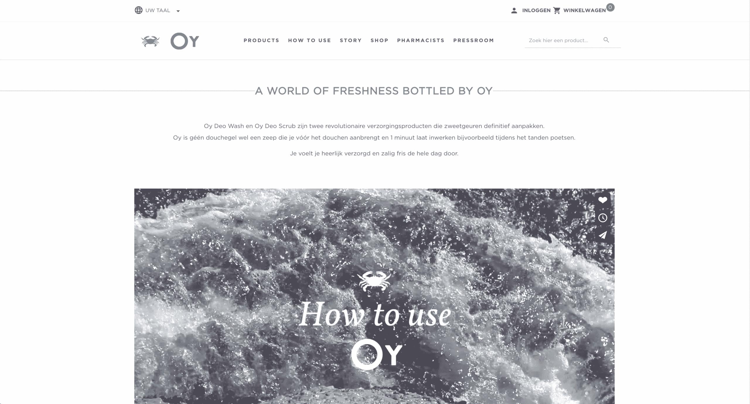 oycare webshop