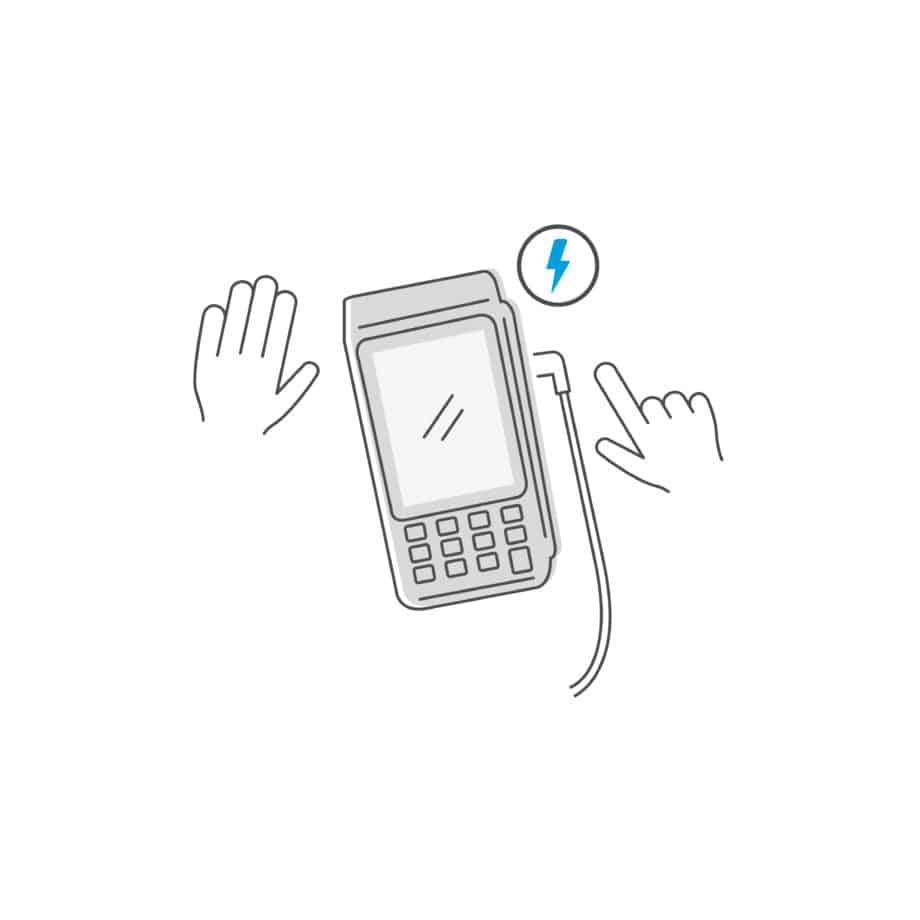 heropstart mobiele terminal